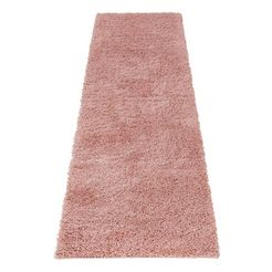 hoogpolige loper, home affaire, »viva«, hoogte 45 mm, geweven roze