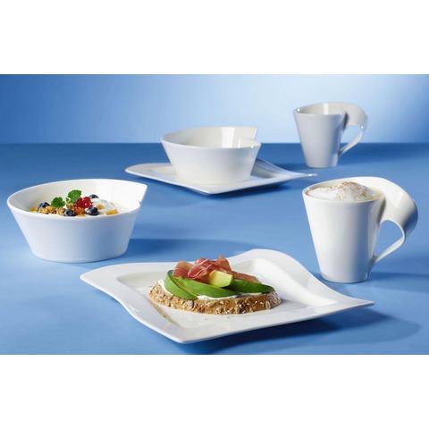 VILLEROY & BOCH ontbijtset, porselein, 6-delig, »NewWave«