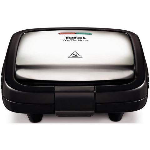 TEFAL wafelijzer WD170D, 700 W, edelstaal/zwart