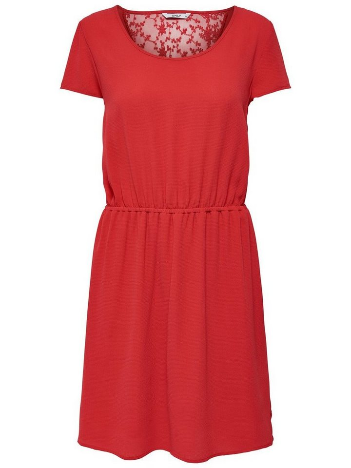 ONLY kanten jurk met korte mouwen rood