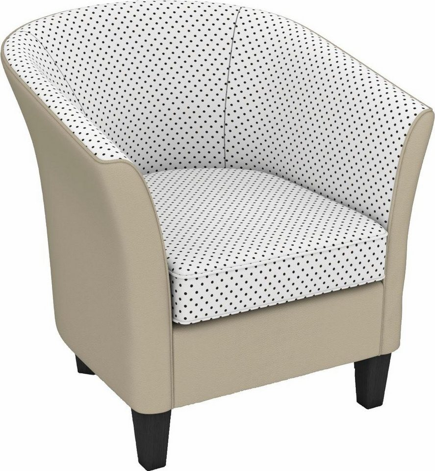 Max Winzer® build-a-chair cocktailfauteuil 'Luisa' in rond model, om zelf te stylen