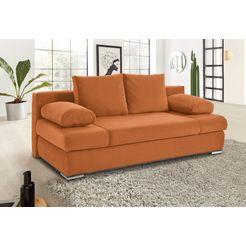 collection ab bedbank met bedkist en stormrand, naar keuze met binnenvering oranje
