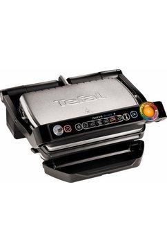 elektrisch grillapparaat GC730D Optigrill, app-bediening, 2000 W, 6 grillprogramma's, zwart