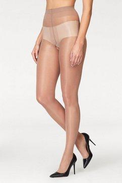 glamory ouvert panty , extra wijd broekje en bij bovenbeen beige