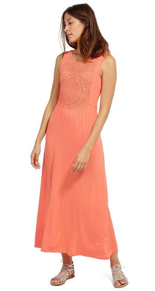 Tom Tailor jurk Maxi-jurk met kant oranje