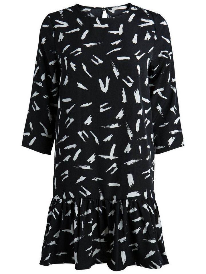 Pieces Print jurk zwart