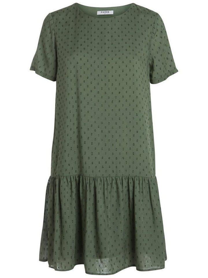 Pieces Korte mouw jurk groen
