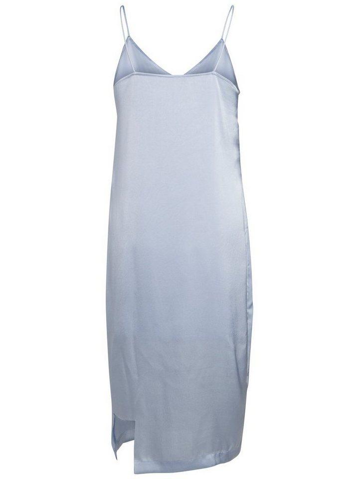 Pieces Klassieke mouwloze jurk blauw
