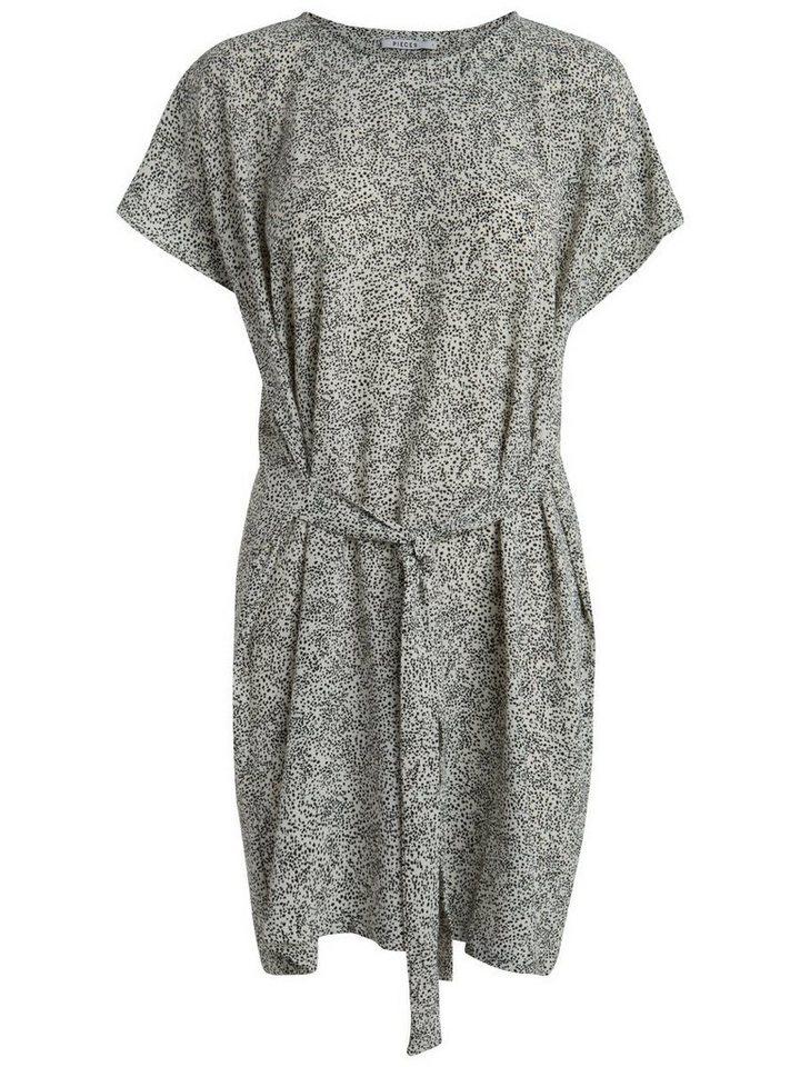 Pieces Gedessineerde jurk grijs