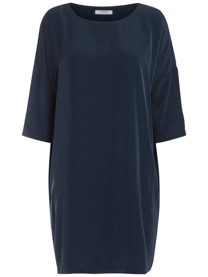 Pieces Oversized jurk blauw