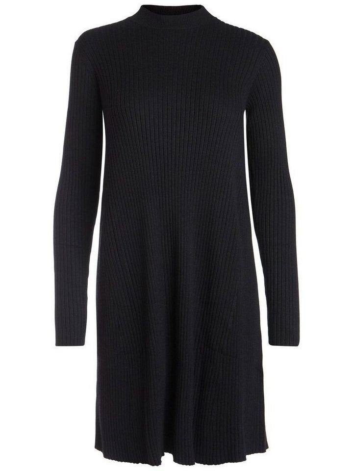 Pieces gebreide jurk met lange mouwen zwart