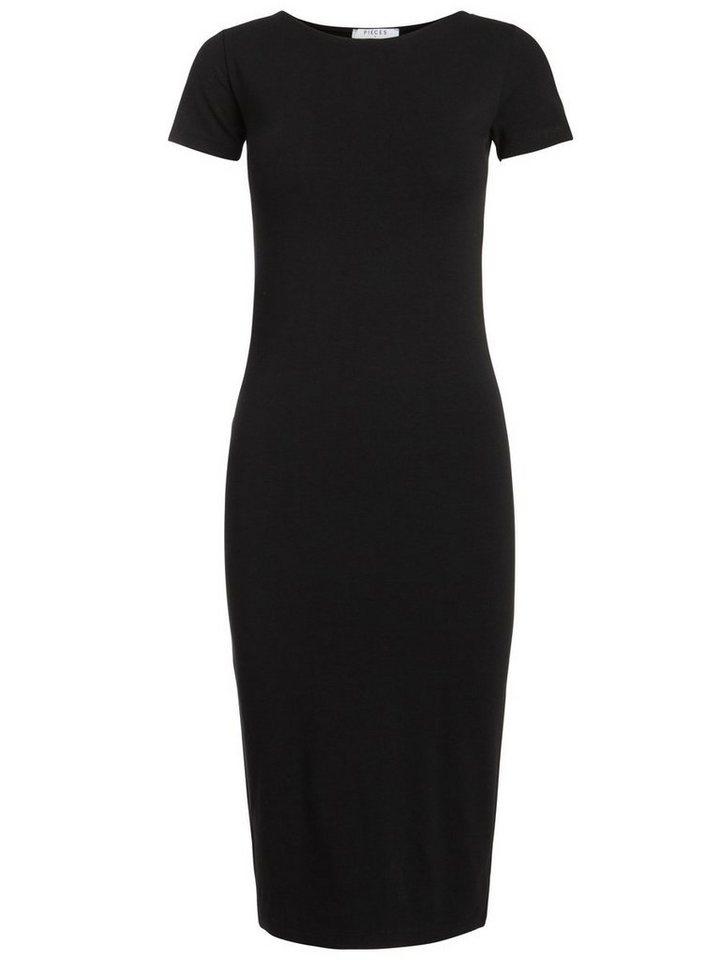 Pieces Lange casual jurk zwart