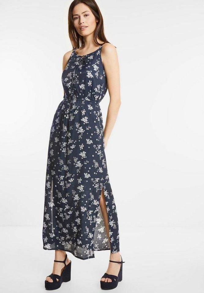 Street One Maxi-jurk met bloemen Posy blauw
