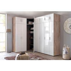 wimex garderobekast »valetta«, met hoogglansfronten wit