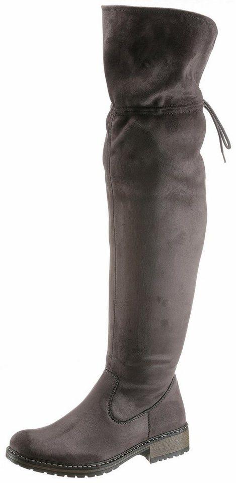 Afbeelding van Grijze RIEKER overknee-laarzen
