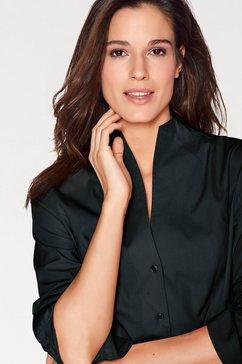 blouse met staande kraag zwart