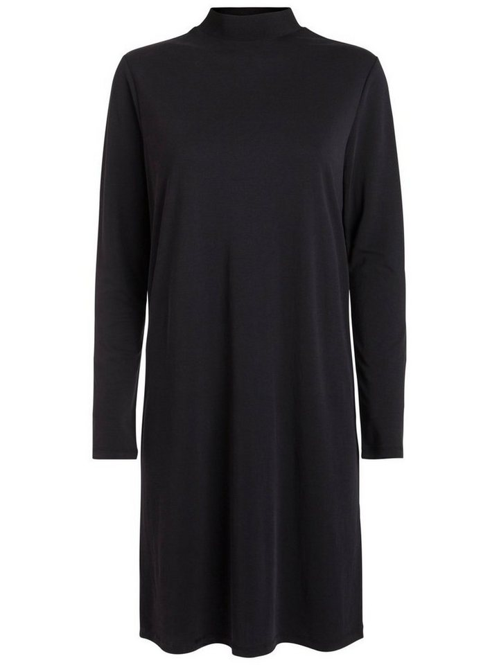Pieces Loose fit jurk met lange mouwen zwart