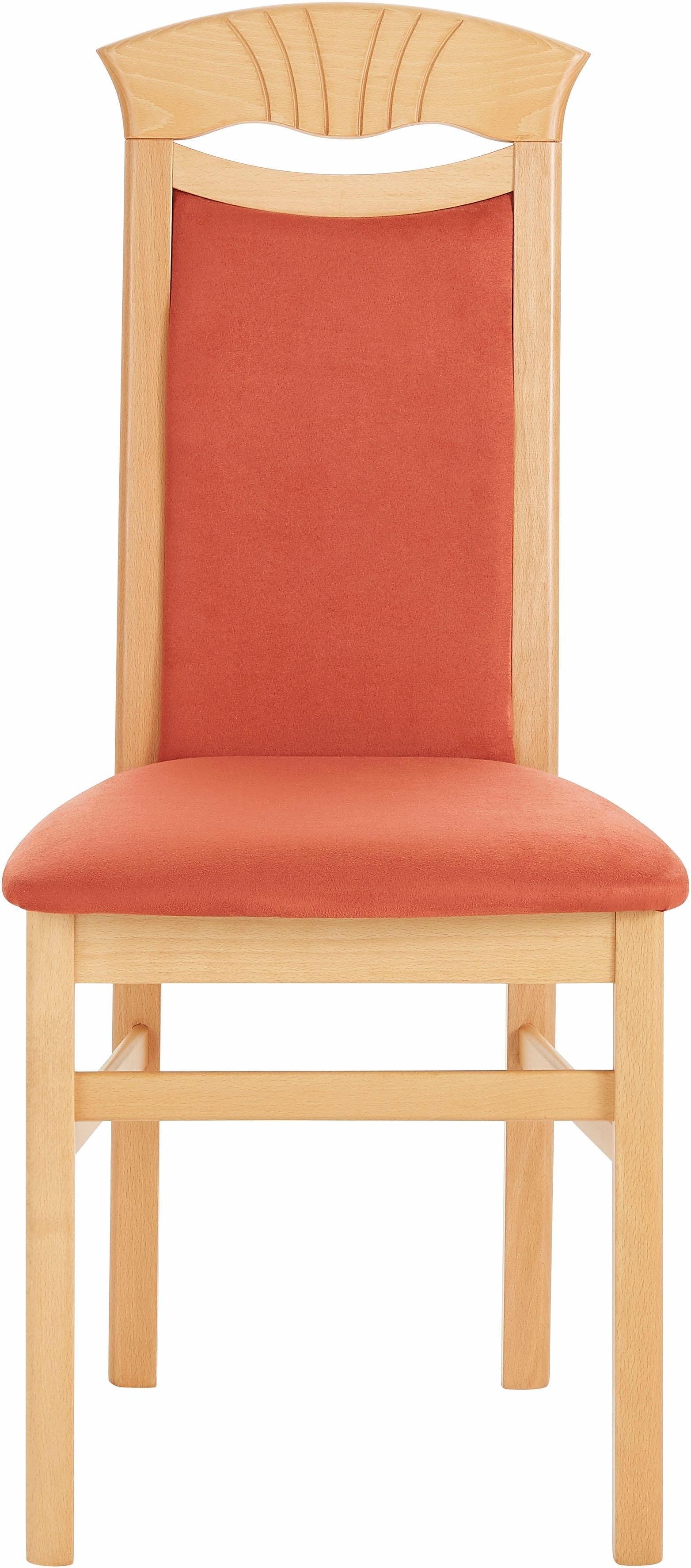 DELAVITA stoel Franz Overtrokken met robuuste microvezel, frame massief beukenhout gelakt (set, 2 stuks) veilig op otto.nl kopen