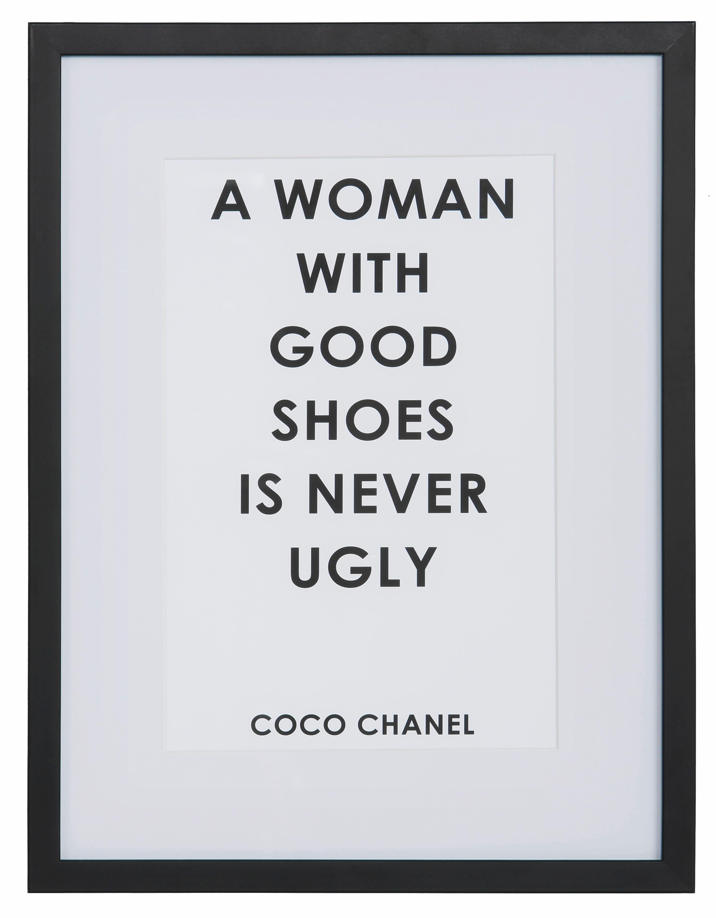 Leonique wanddecoratie Quote: A woman with … 30/40 cm, ingelijst voordelig en veilig online kopen
