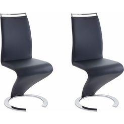 steinhoff vrijdragende stoel (set van 2) blauw