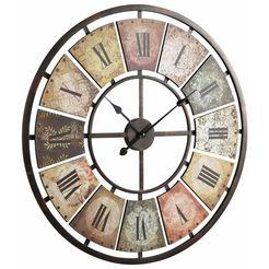 schneider wandklok roman rond, oe 80 cm, romeinse cijfers multicolor