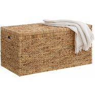 home affaire dekenkist van gevlochten waterhyacint beige