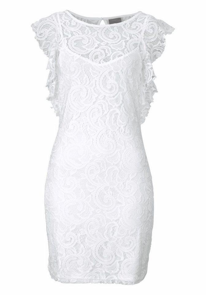 VERO MODA kanten jurk »THEA« wit