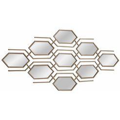 home affaire wanddecoratie met spiegelelementen goud