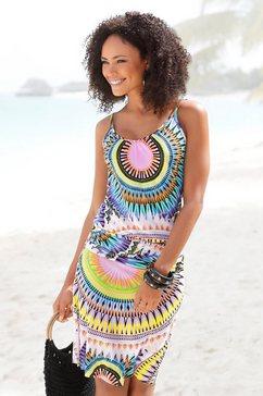 beachtime strandjurk met grafische print multicolor