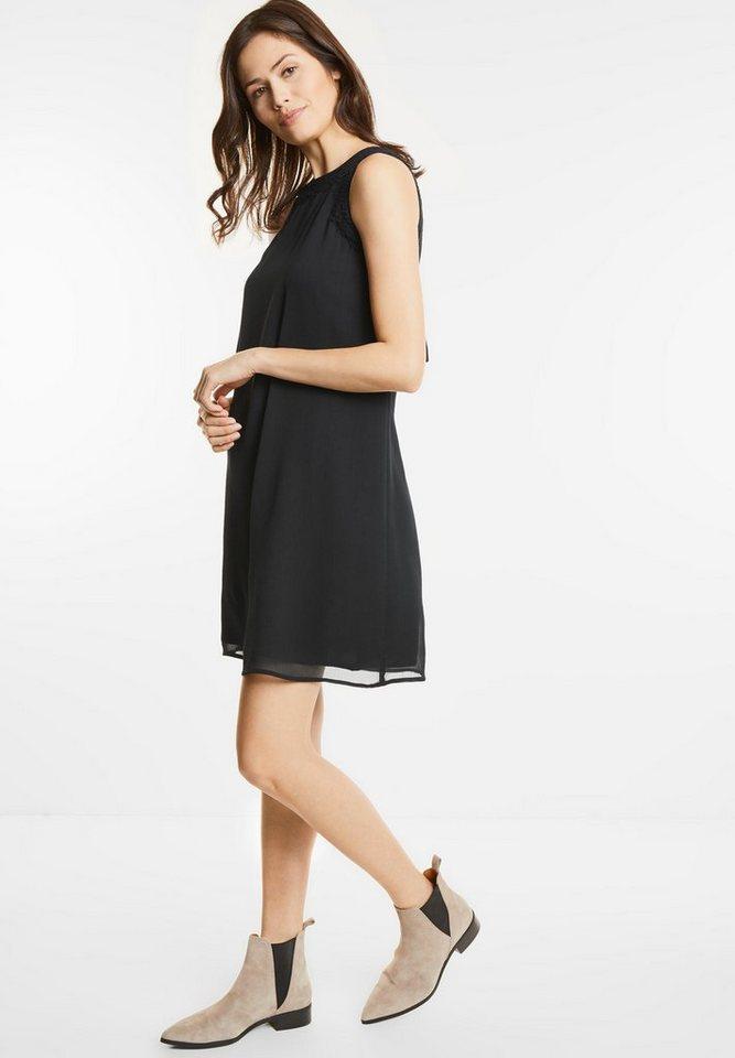 Street One jurk met kant Portia zwart