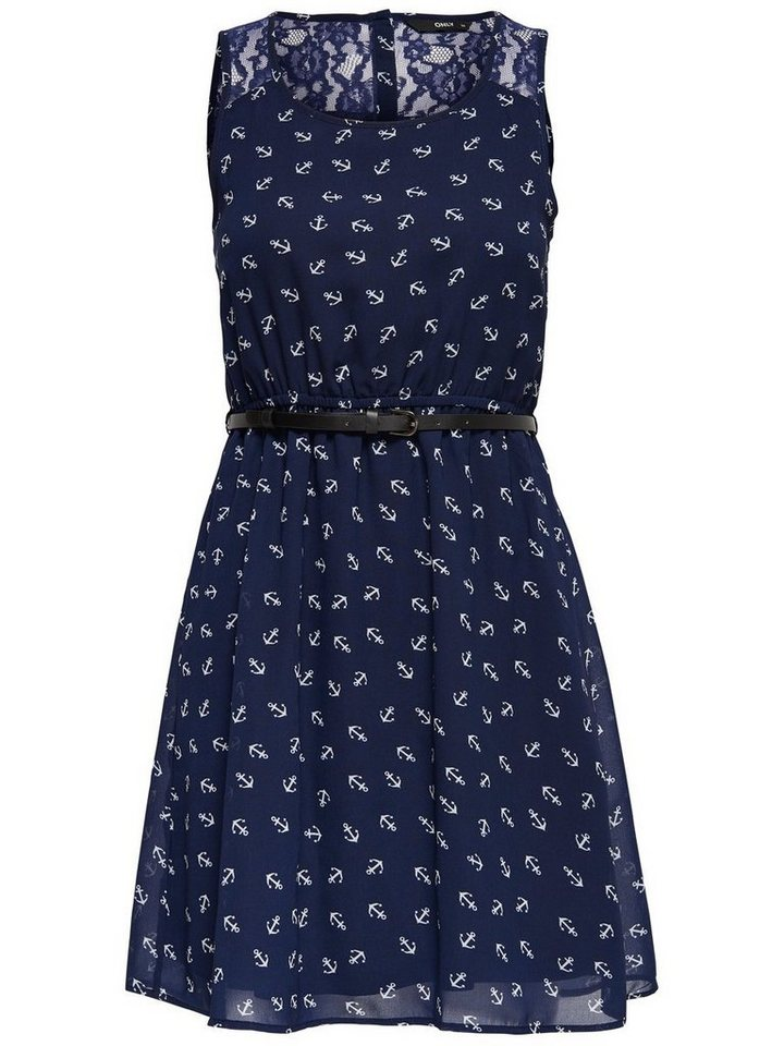 ONLY Mouwloze jurk blauw