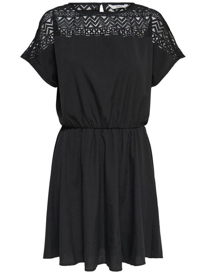 ONLY jurk met korte mouwen zwart
