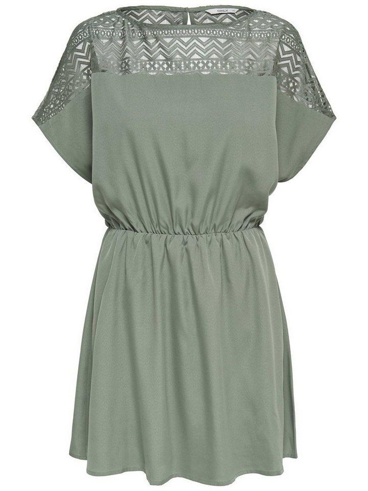ONLY jurk met korte mouwen groen
