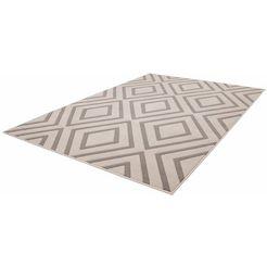 vloerkleed, kayoom, »lina 500«, hoogte: 10 mm, geweven bruin