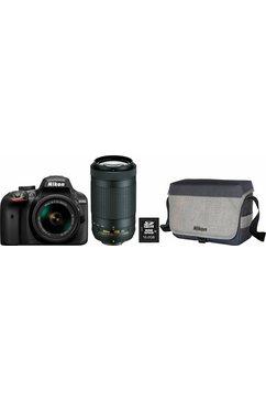 D3400 spiegelreflexcamera Kit NIKKOR 18-55 & 70-300 mm VR Zoom + tas