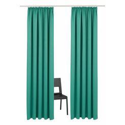 gordijn, »solana«, my home, rimpelband, set van 2 groen