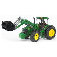 bruder speelgoedtractor, »john deere 7930 met voorlader, 1:16, groen« groen