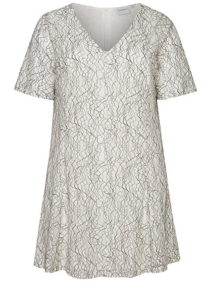 Junarose 2/4-mouw jurk wit