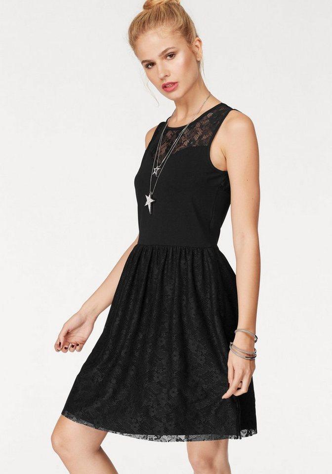 NU 21% KORTING: ONLY kanten jurk NIELLA zwart