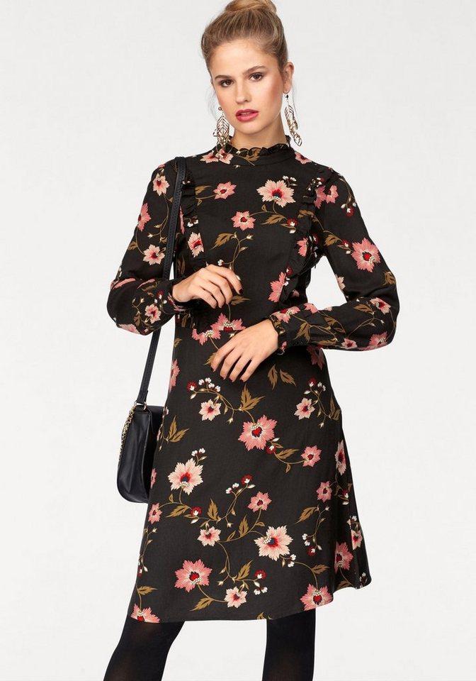 NU 21% KORTING: Vero Moda gedessineerde jurk NADIA zwart