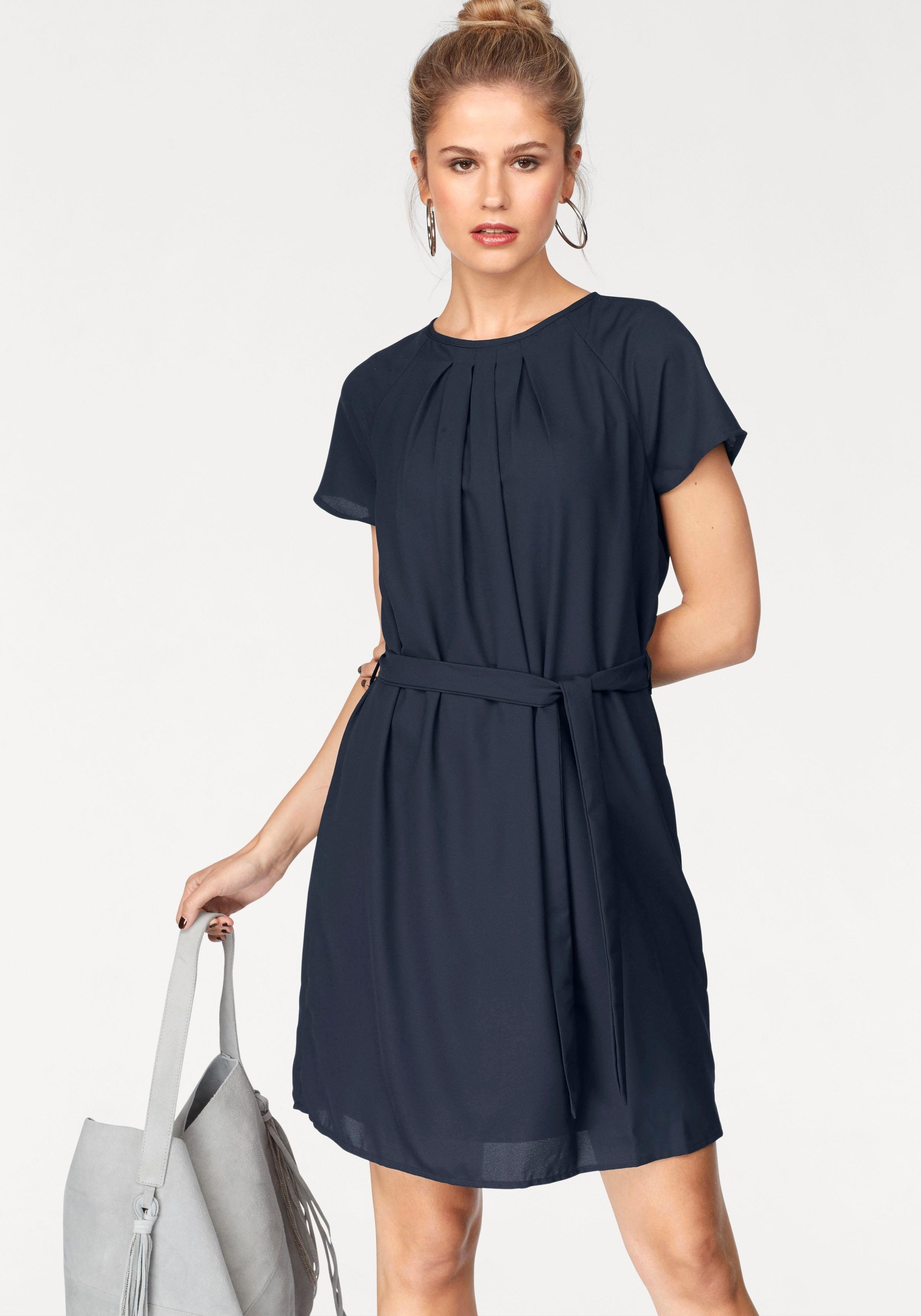 Lange zwarte chiffon jurk
