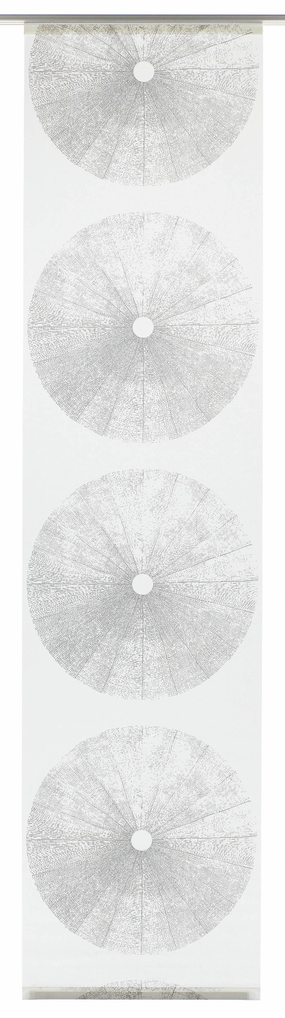 GARDINIA Paneelgordijn stof Tree met zilverkleurige rail HxB: 245x60 (1 stuk) - gratis ruilen op otto.nl