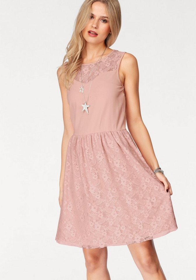 NU 21% KORTING: ONLY kanten jurk NIELLA roze