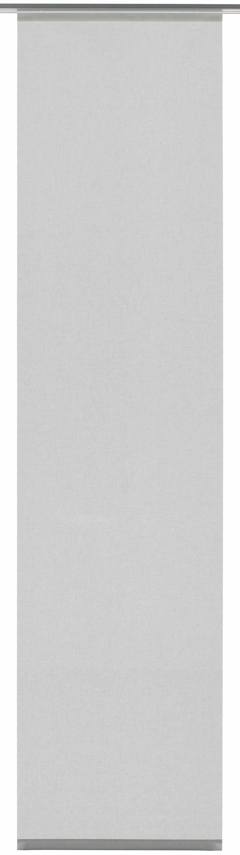 GARDINIA paneelgordijn stof uni met zilverkleurige rail (1 stuk) online kopen op otto.nl