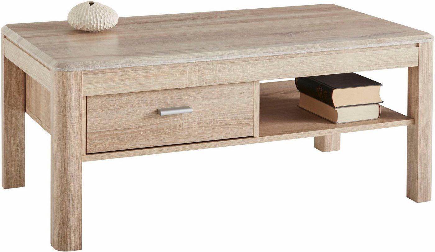 Salontafel met lade en plank