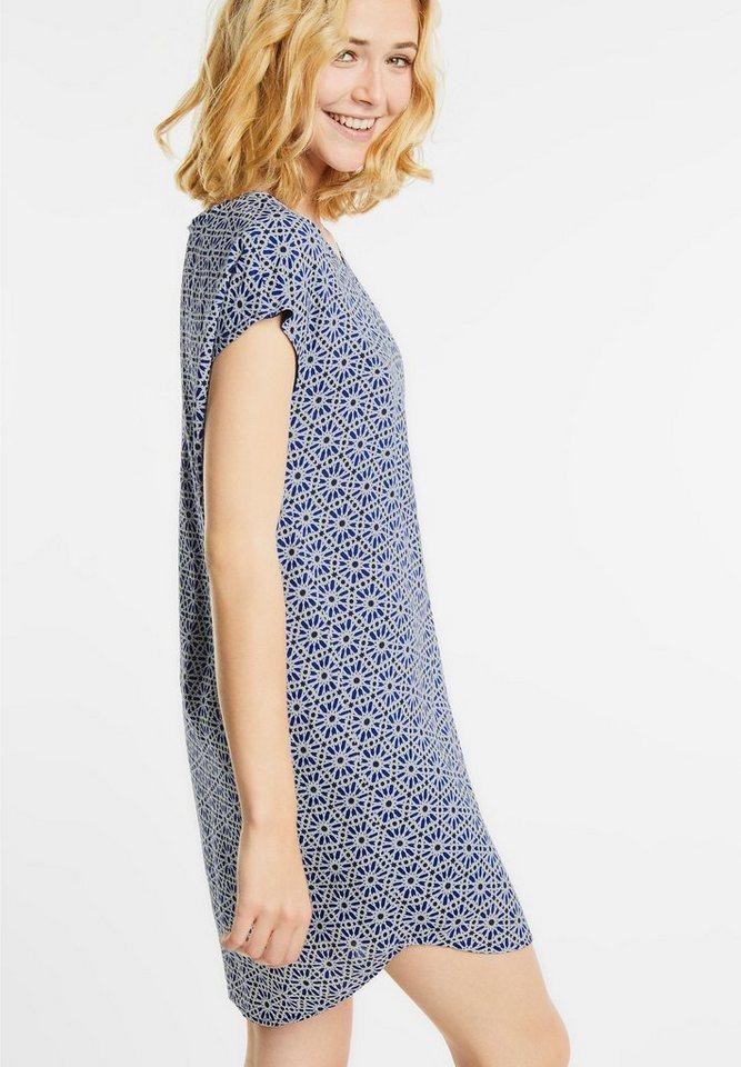 Street One jurk met grafische print Ricarda blauw