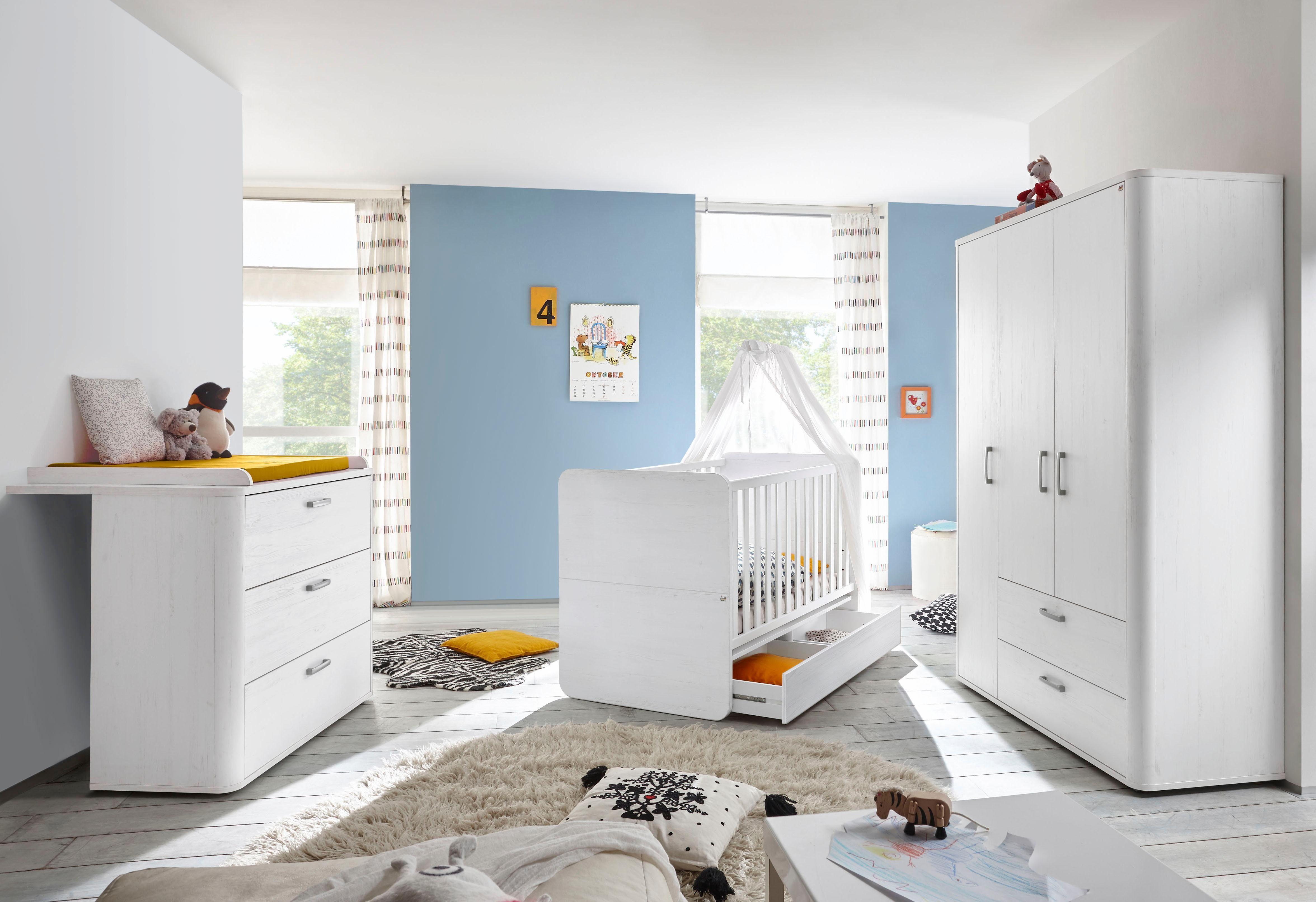 Babykamer Miami Kinderkamer : Babykamer lillesand pine wit online kopen bekijk nu onze