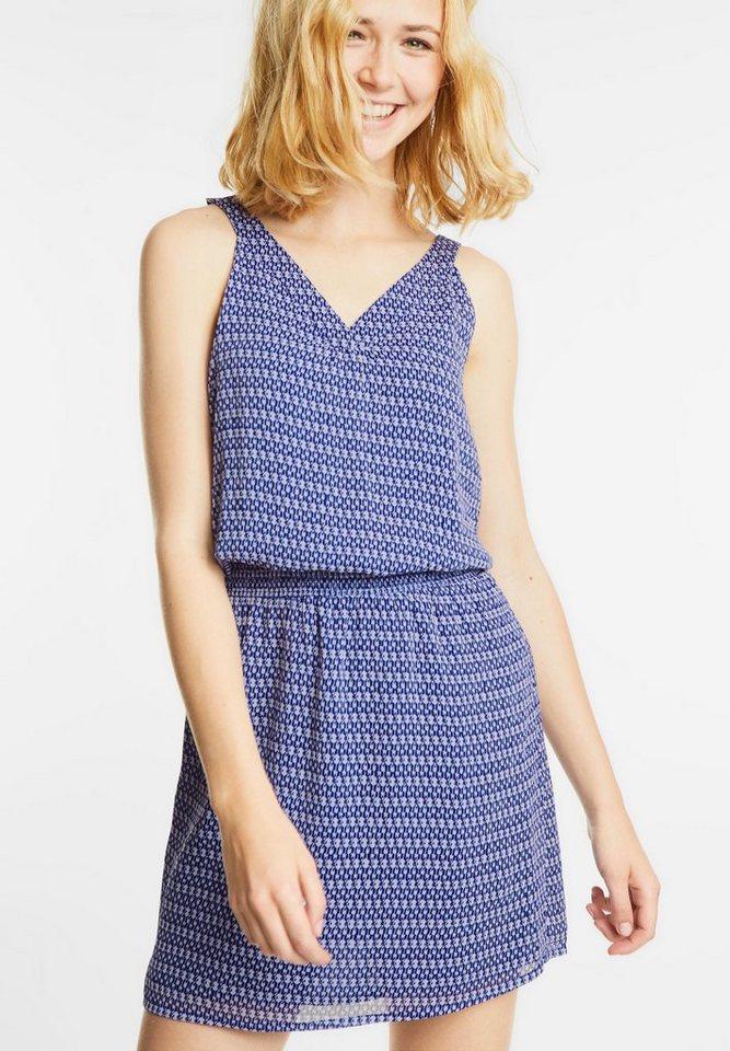 Street One jurk met elastiek Reva blauw