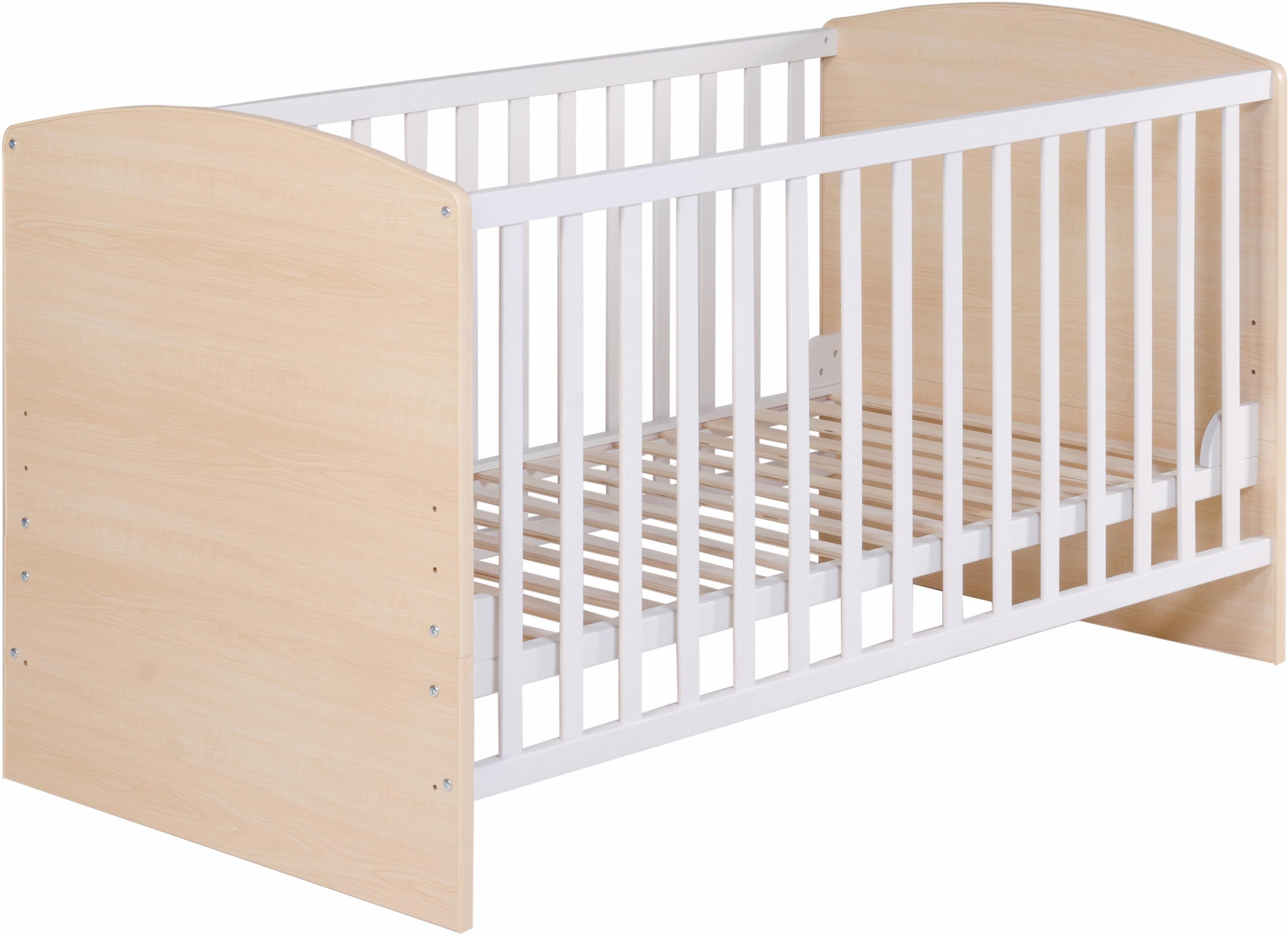 roba kinderledikantje combi kinderledikantje lena ahorn wit online shop otto. Black Bedroom Furniture Sets. Home Design Ideas