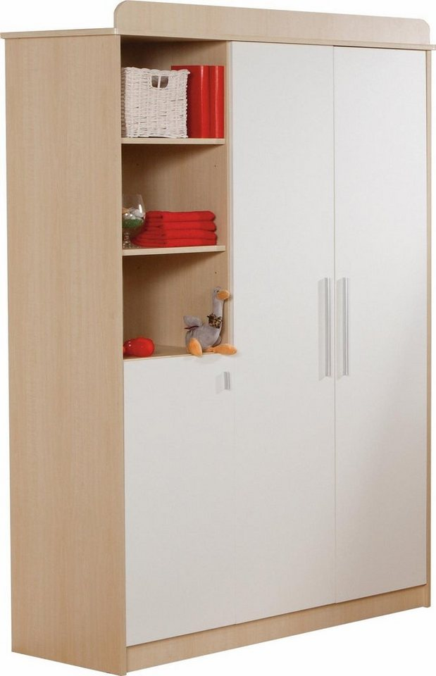 ROBA garderobekast Lena 3-deurs, ahorn/wit